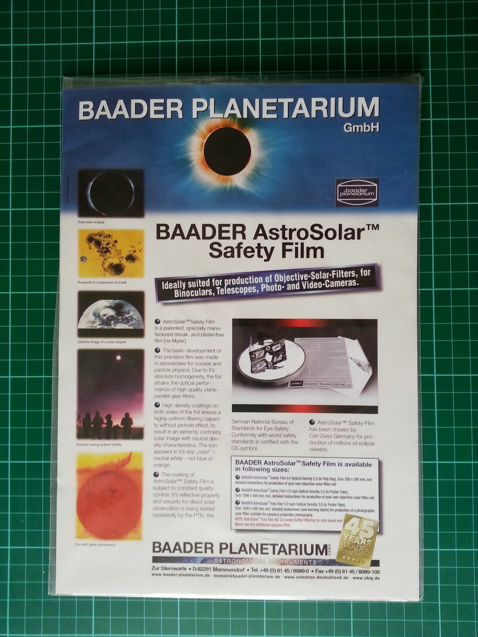 Baader AstroSolar Safety Film